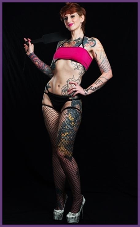 inked cyber Femdom Mistress Harley